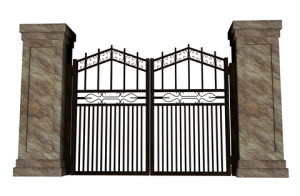 http://www.dreamstime.com/stock-photography-iron-gate-closed-big-white-background-image31775612